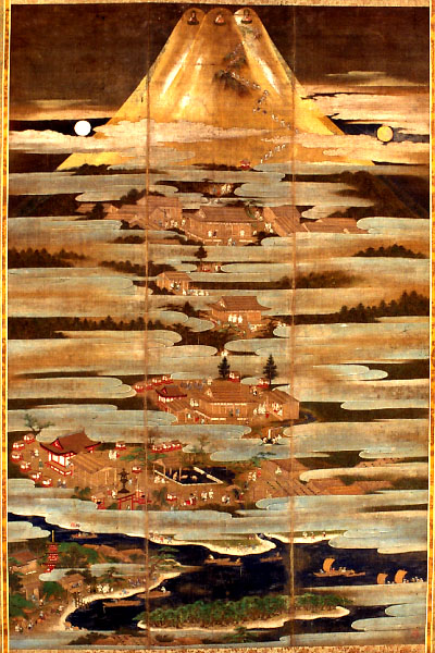絹本着色富士曼荼羅図