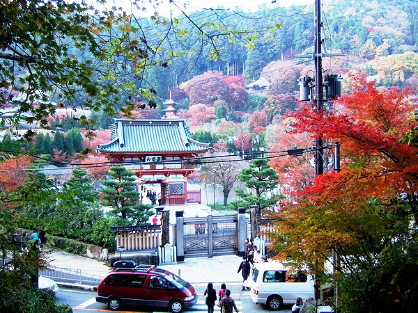 勝尾寺 山門 入口