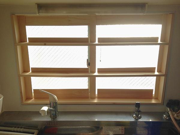 窓枠 棚受け 作り方 自作